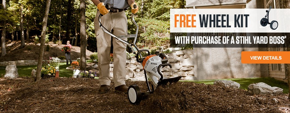 Free Wheel Kit with YARD BOSS purchase
